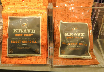 Krave jerky sold at the airport