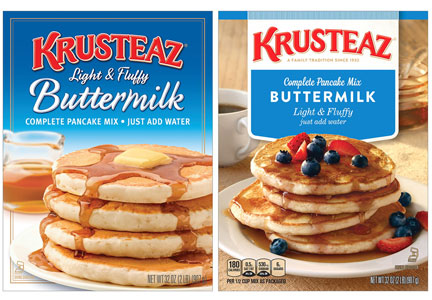 Krusteaz new packaging