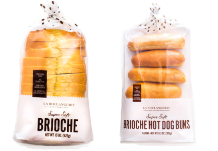 La Boulangerie bread and hot dog buns at Costco