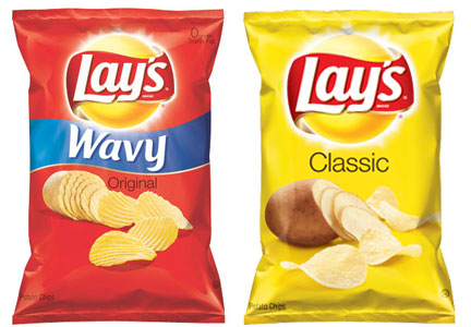 Lay's wavy and classic original chips