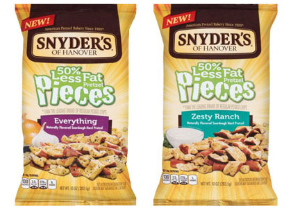 Snyder's of Hanover 50% less fat pretzel pieces