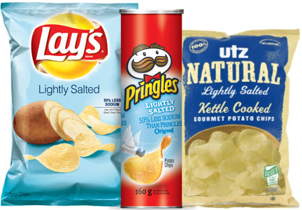 Lightly salted potato chips