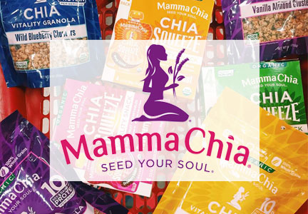 Mamma Chia products and logo