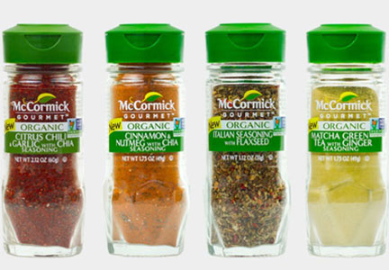 McCormick organic and Non-GMO Project verified spices