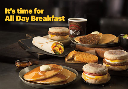 McDonald's all day breakfast ad