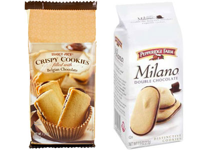 Trader Joe's Crispy Cookies and Milano cookies