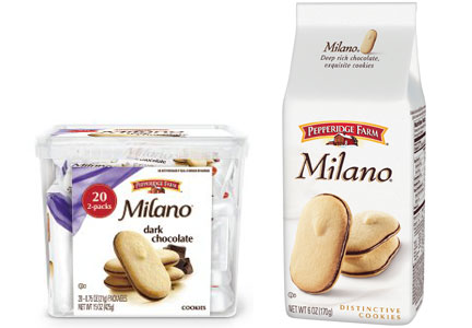 Pepperidge Farm Milano cookies, Campell Soup