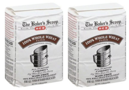 The Baker's Scoop HEB 100% whole wheat flour 5-lb bag recall