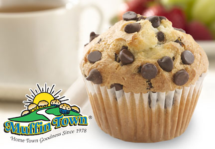 Muffin Town chocolate chip muffin nut-free