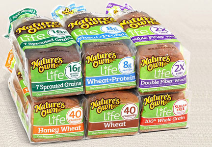 Nature's Own Life bread, Flowers Foods