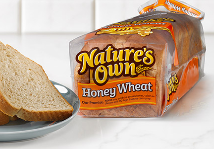 Nature's own bread, Flowers Foods