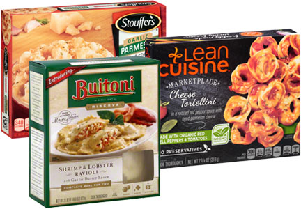 Nestle Stouffer's, Lean Cuisine, Buitoni frozen meals