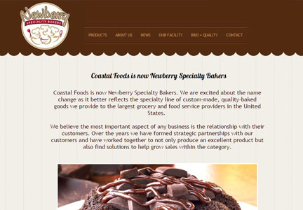 Newberry Specialty Bakers web site