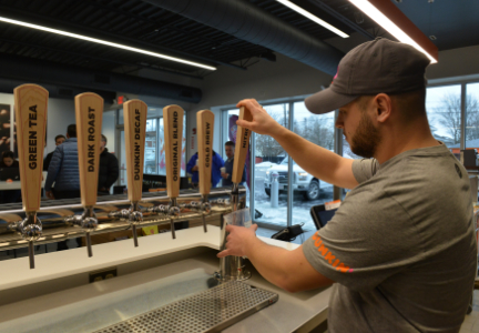 New Dunkin' Donuts restaurant tap system