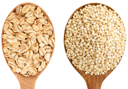 Oats and quinoa