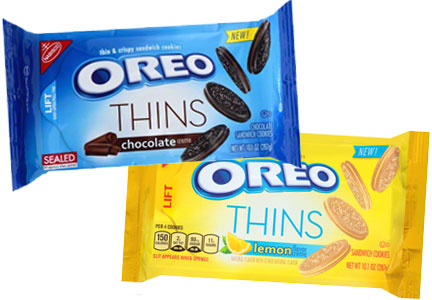 Oreo Thins new flavors - lemon and chocolate creme