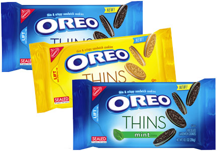 Oreo Thins original flavors - original, golden, mint