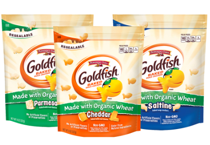 Organic Goldfish crackers, Campbell