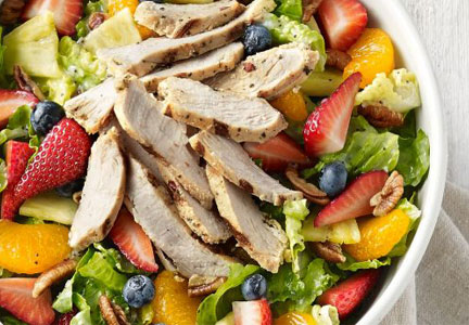 Panera salad with fruit