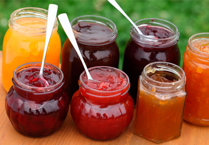 Jams and jellies with pectin