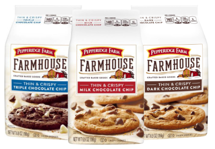 Pepperidge Farm Farmhouse Thin & Crispy cookies, Campbell Soup