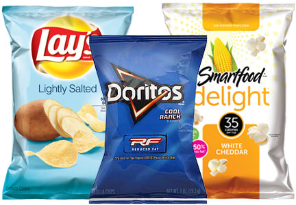 PepsiCo Frito-Lay healthier snacks - Smartfood Delight, Reduced Fat Doritos, Reduced sodium Lay's