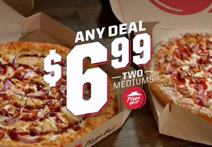 Pizza Hut pizza pair for $6.99 deal, Yum! Brands