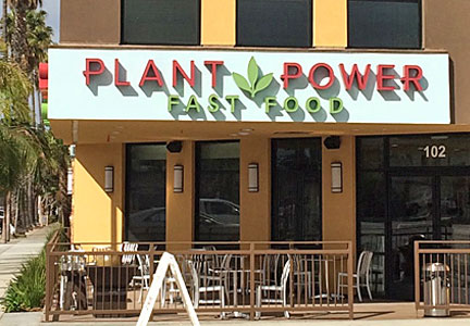 Plant Power Fast Food restaurant, plant protein