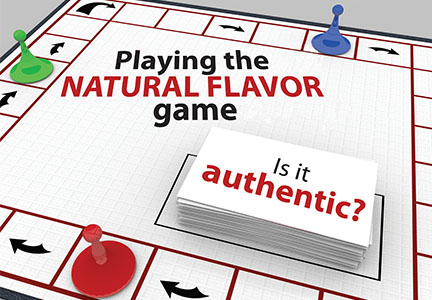 Playing natural flavor game