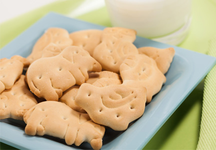 Animal cookies with protein