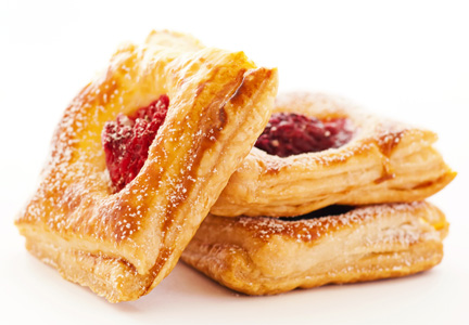 Pastries with protein