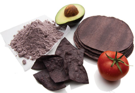 Purple corn products