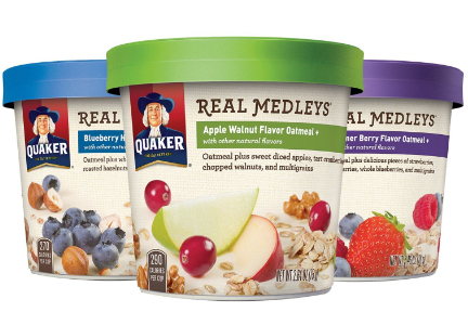Quaker Real Medleys oatmeal, PepsiCo