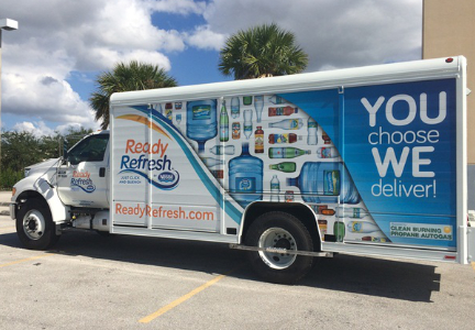 Nestle ReadyFresh water delivery truck