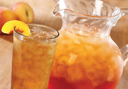 Pitcher of iced tea at Olive Garden