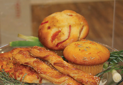 Savory muffins and pastries