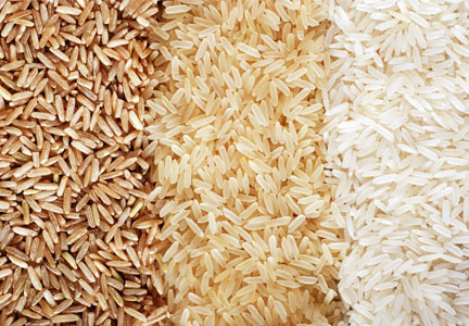 Three varieties of rices