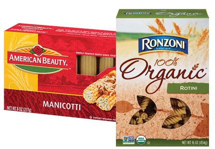 Ronzoni and American Beauty pasta