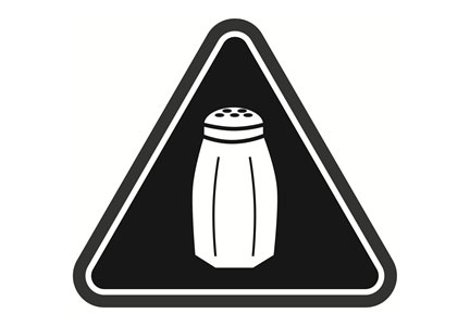 Salt icon warning