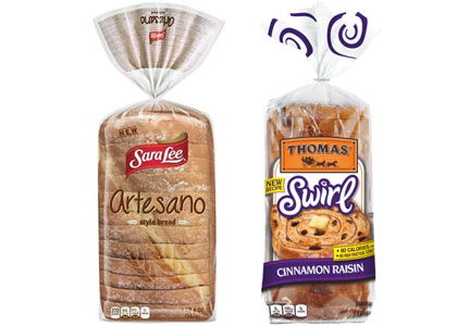 Bimbo breads - Sara Lee Artesano, Thomas Swirl breads
