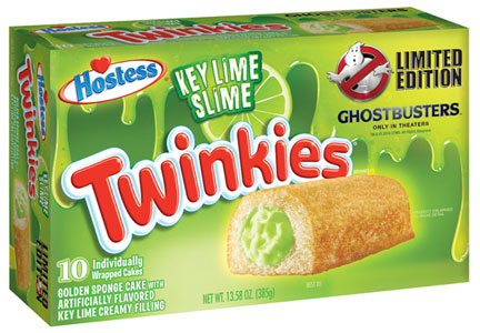 Key Lime Slime Twinkies, Hostess, Ghostbusters