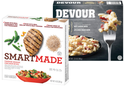 Kraft Heinz Smartmade meals and Devour meals