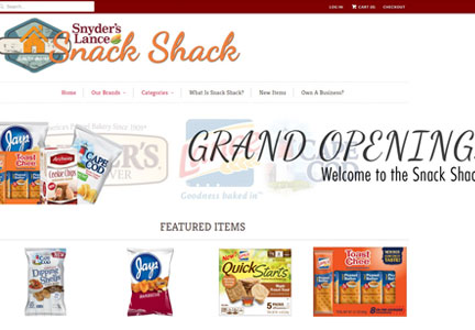 Snyder's-Lance Snack Shack web site