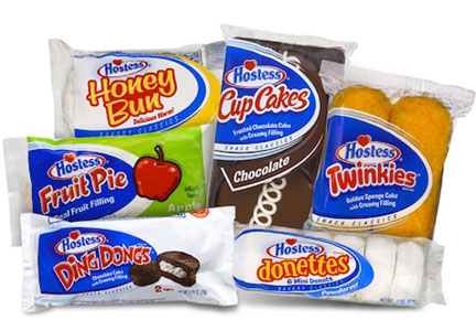 Hostess snack cakes
