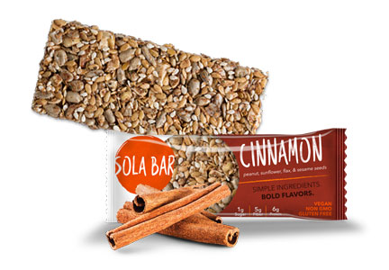 Sola Snacks cinnamon bar