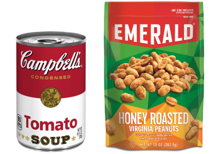 Campbell Soup and Emerald nuts