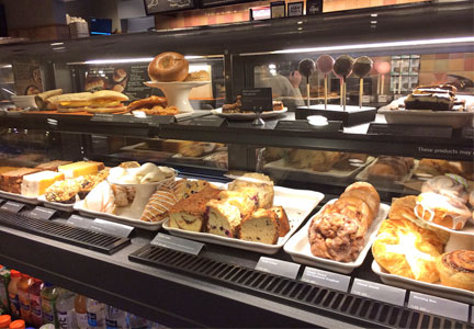Starbucks bakery case items