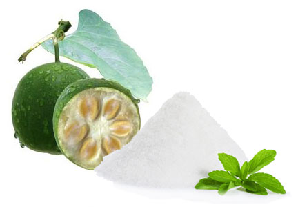 Stevia and monk fruit, sweeteners