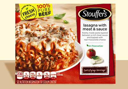 Nestle Stouffer's reformulated lasagna