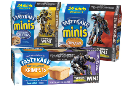 Tastykake snack cakes with Transformers, Flowers Foods